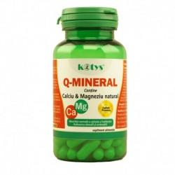 Q-Mineral cu Calciu si Magneziu natural 60 cps Kotys