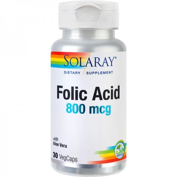 Acid Folic 800 mcg Solaray, 30 capsule, Secom