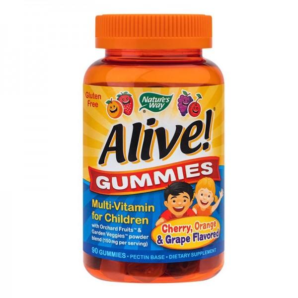 Alive Gummies Nature's Way, 90 jeleuri gumate - Secom