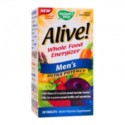 Alive Once Daily Mens Ultra Potency Nature's Way, 30 tablete, Secom