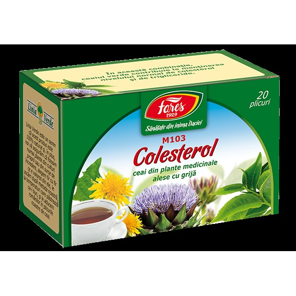 Ceai Colesterol M103, la plic