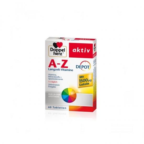 Doppelherz Aktiv A-Z Depot cu luteina 60 comprimate