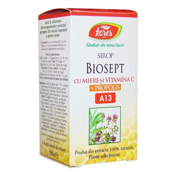 Biosept - antibacterian, antiviral, A13 - sirop