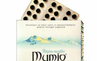 Mumio - extractul purificat de rasina