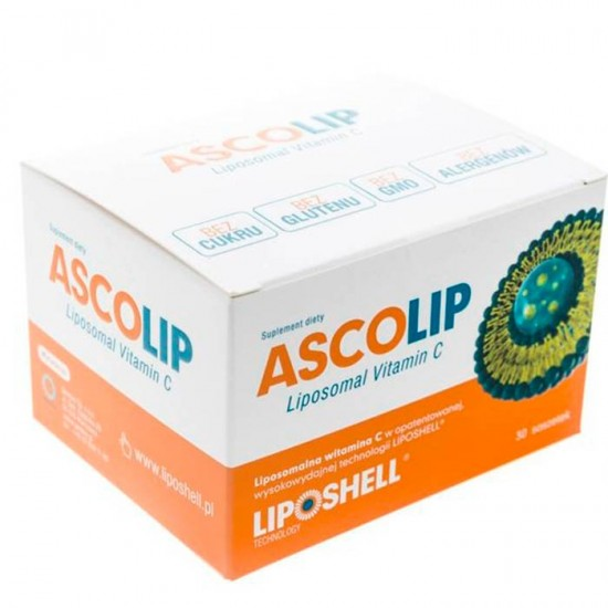 ASCOLIP 1000mg vitamina C Lipozomala - , 30 plicuri