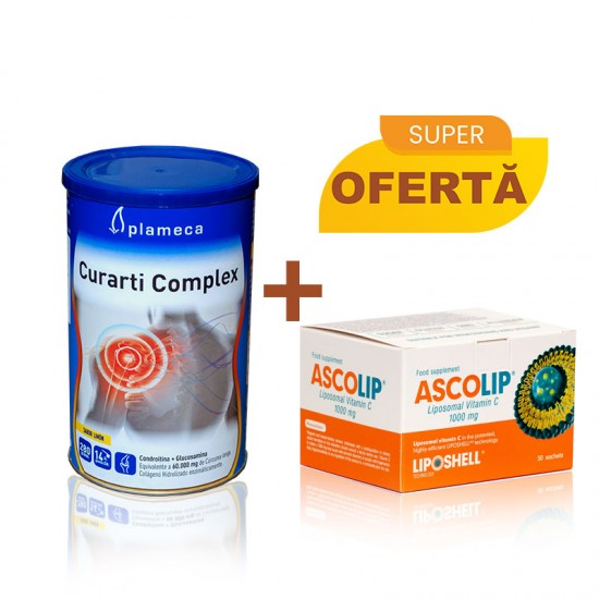 Pachet Promotional - Ascolip Vitamina C+Curarti Complex