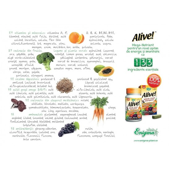 Alive - complex vitamine - 30 tablete