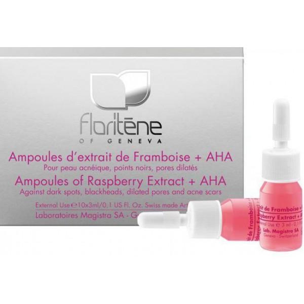 Floriten - Fiole cu Extract de Zmeura + AHA