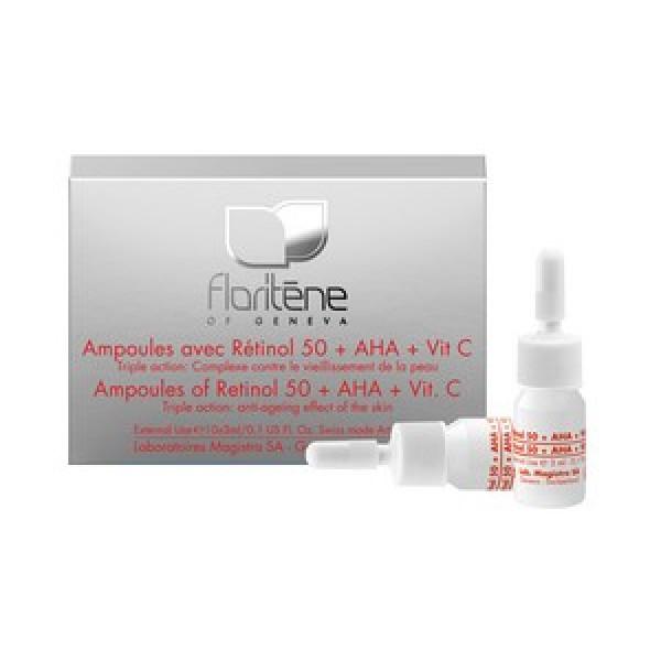 Floriten - Fiole cu Retinol 50 + A.H.A. + Vitamina C