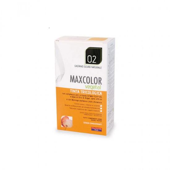 Vopsea de Par MaxColor Vegetal 02 CASTANIU INCHIS