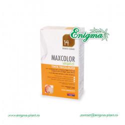 Vopsea de Par MaxColor Vegetal 14 BLOND-SATEN AURIU CASTANIU INCHIS