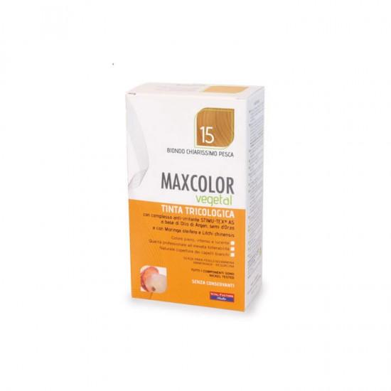 Vopsea de Par MaxColor Vegetal 15 BLOND PLATINAT PIERSICA