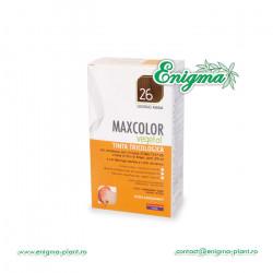 Vopsea de Par MaxColor Vegetal 26 SATEN INCHIS NATURAL