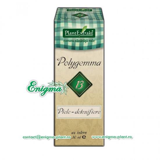 Polygemma 13 - susţine curăţarea tenului şi a pielii prin acţiune detoxifiantă – 50ml