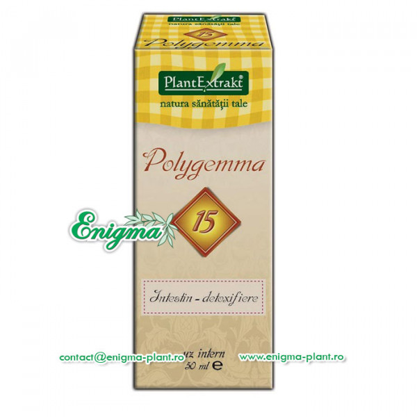 Polygemma 15 - Susţine funcţia de detoxifiere intestinală – 50ml