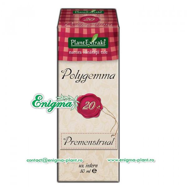 Polygemma 20 - Ajută la ameliorarea simptomelor neplăcute de dinainte şi din timpul ciclului menstrual  – 50ml
