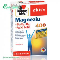 DOPPELHERZ® AKTIV MAGNEZIU 400 + B1 + B6 + B12 + ACID FOLIC